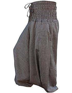Shopoholic Moda Tinta unita Vestibilità Larga Harem Pantaloni Aladdin Hippie Tuta,Vestito a tuta