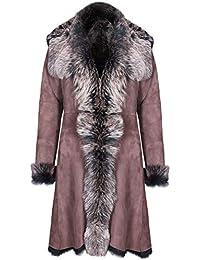 a398d9d97613 Infnity Leather Damen Braun Damen Echt Toscana Schaffell Leder Wildleder  Jacke Trenchcoat