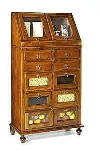 Zeroduezero dispensa legno cucina arte povera mobile noce super offerta casa e cucina - Mobile cucina dispensa ...