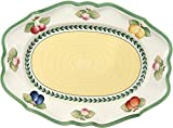 Villeroy & Boch French Garden Fleurence Ovale Servierplatte, 37 cm, Premium Porzellan, Weiß/Bunt