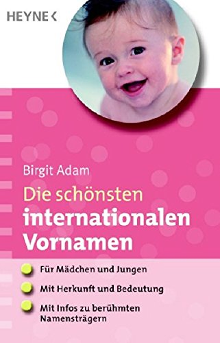 Die schönsten internationalen Vornamen: - Für Mädchen und Jungen - - Mit Herkunft und Bedeutung - - Mit Infos zu berühmten Namensträgern