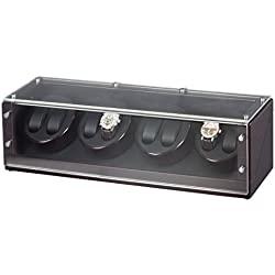 Auer Accessories Plutus 24-EB Watch Winder for 8 Watches Ebony