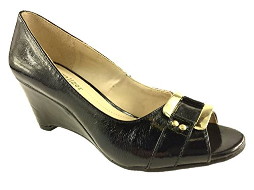 ladies-naturalizer-slip-on-open-toe-low-wedge-court-shoes-comfort-insole-size-3-9-55-black