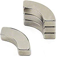 4 x Arc aimant de segment - 5 mm x 20 mm - Néodyme N42 (NdFeB) Nickelé - Force d'adhérence 5 kg - Aimants permanents…
