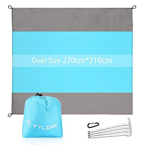 Strandmatte mit Tasche Faltbar Picknickdecke und Stranddecke Schnell Trocknende Extra Großes 7' X 9' Fuß für Outdoor am Strand auf der Wiese Sommer an die Frische Luft Gehen - Leicht zu Transportieren