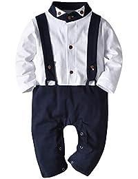 34c71be8f3871 ZOEREA Uno Pedazos Ropa de Caballero para Bebé Niño con Pajarita Trajes  Chaqueta para Partido Bautismo