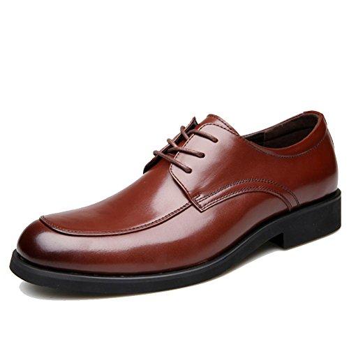 Herrenschuhe Business-Anzüge Schuhe klassisches Leder Brown