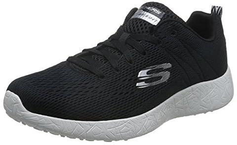 Skechers Men Burst-Second Wind Low-Top Sneakers, Black (Bkw), 10 UK 45 EU