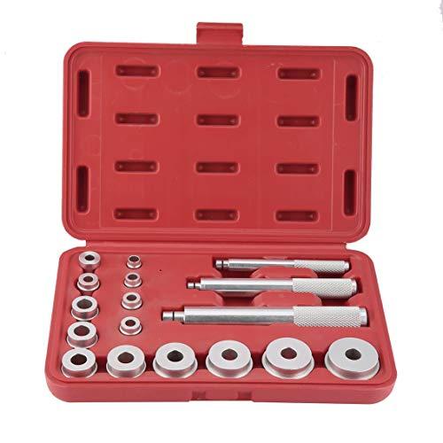 Mazur 17 STÜCKE Aluminium Radlager Race Set Auto Removal Tool Radlager Demontage Gerät Garage Tool Kit (rot)