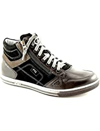 Negro Jardines 4561 Cordones de Cuero Marrón Hombre luciendo Zapatos con Estilo 44 UQIpk0yOk
