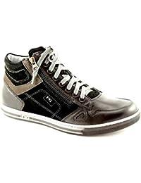 Negro Jardines 4561 Cordones de Cuero Marrón Hombre luciendo Zapatos con Estilo 44