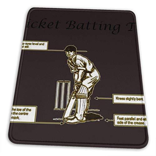 Cricket Batting Tips große rutschfeste wasserfeste Gummituch Computerspiel Mauspad niedliche Büroartikel (10 × 12 Zoll)