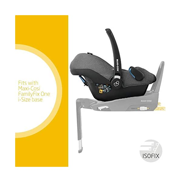 Maxi-Cosi Rock Baby Car Seat Group 0+, ISOFIX, i-Size Car Seat, Rearward-Facing, 0-12 m, 0-13 kg, Sparkling Grey Maxi-Cosi Baby car seat, suitable from birth to 13 kg (birth to 12 months) Enhanced safety: This Maxi-Cosi car seat complies with the i-Size (R129) car seat legislation Baby-hug inlay of this Maxi-Cosi i-Size car seat offers a better fit and laying position for newborns 3