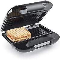 Princess 01.127002.01.001 - Sandwichera, plancha grill, tapa con bloqueo de seguridad, color plata