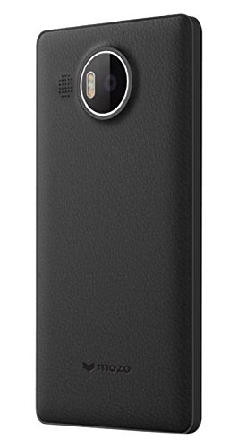Mozo 950XLBBBRWN Qi drahtlos Charging Back Schutzhülle für Microsoft Lumia 950 XL mit NFC Rubber Paint schwarz