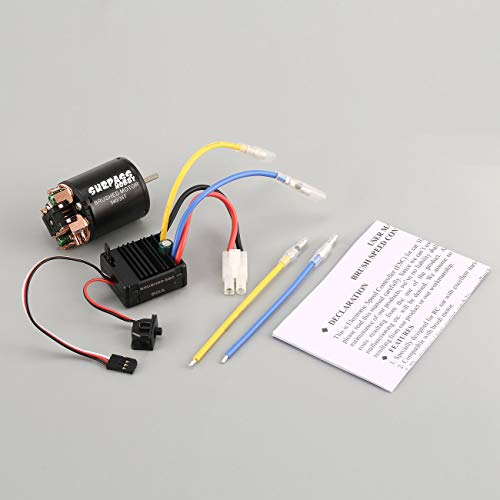 Elviray Surpass Hobby 540 35T Motor cepillado 60A ESC Con 5V / 2A BEC para 1/10 RC Off-Road Racing Truck