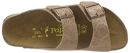 Birkenstock - Arizona Leder, Pantofole Donna Marrone (Braun (Royal Python Brown))