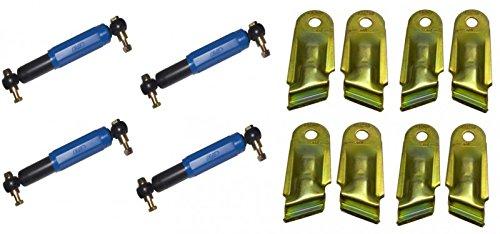 FKAnhängerteile 4 x AL-KO Octagon Achsstoßdämpfer Stoßdämpfer BLAU + 4 x Halter