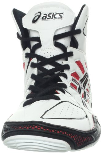 Asics Mens Dan Gable Ultimate 3 Wrestling Shoe White/Black/Red