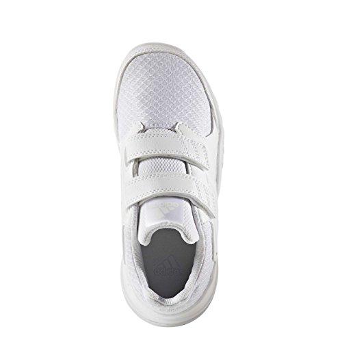 adidas  Fortagym Cf K, chaussure de sport Unisexe - enfant blanc/blanc/gris clair