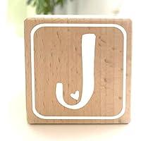 Holzwürfel mit Buchstabe J