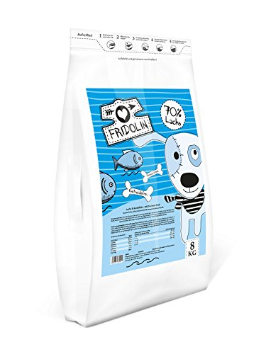 Fridolin Premium Hunde Trockenfutter getreidefrei, Lachs & Kartoffel 8 kg Sack