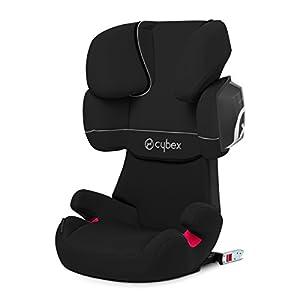 Cybex Solution X2-fix - Silla de coche, grupo 2/3 (15-36 kg), color Pure black