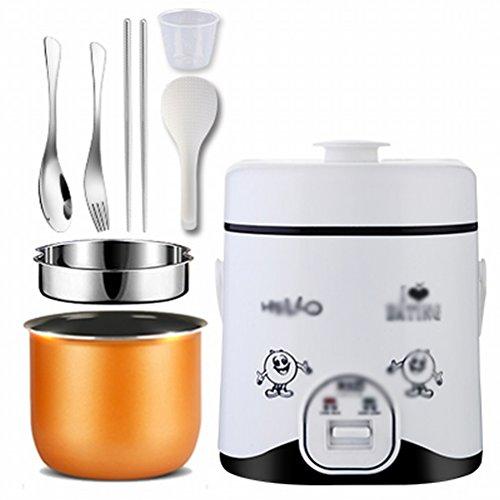 EGC Mini Cuisinière à Riz 1 Personne -2 Personnes Automatique Petite Cuisinière Électrique à Riz Cuisine Simple,Blanc EGC