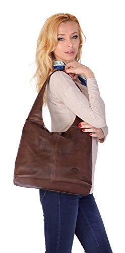PIKÉ Shopper ECHT LEDER Damen Mittel 015955 Braun