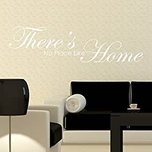 THERE'S NO PLACE LIKE HOME WALL STICKER Words/Quotes Decals 60 white
