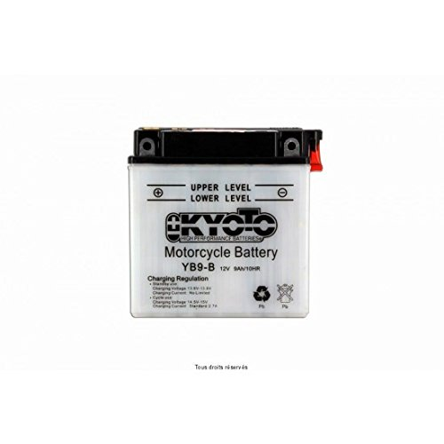 KYOTO Batterie Moto Yb9-b L 137mm W 76mm H 140mm 12v 9ah Acide 0,6l