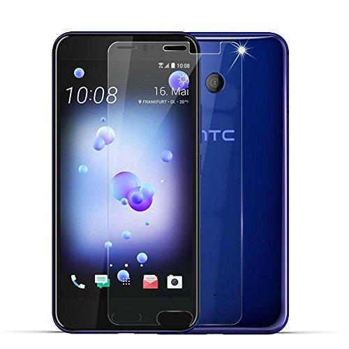 [2 Stück] HTC U11 Schutzfolie, Beyeah Panzerglas Displayschutzfolie [9H Härte] [Anti-Kratzen] [Anti-Öl] [Anti-Bläschen] [lebenslange Garantie] (Flache Front Hosen)
