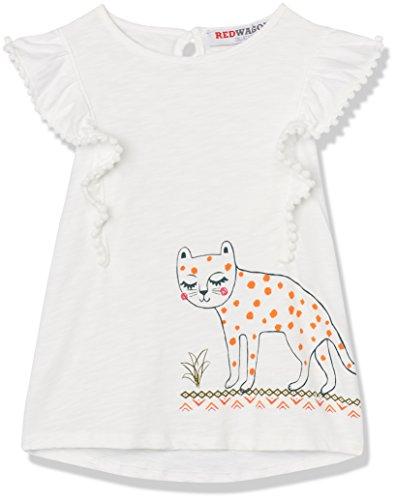 RED WAGON Mädchen T-Shirt mit Tiger-Print und Rüschenärmeln, Weiß, 146 (Herstellergröße: 11 Jahre) (T-shirt Print Tiger)