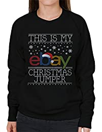 Coto7 This Is My Ebay Christmas Jumpers Knit Pattern Womens Sweatshirt
