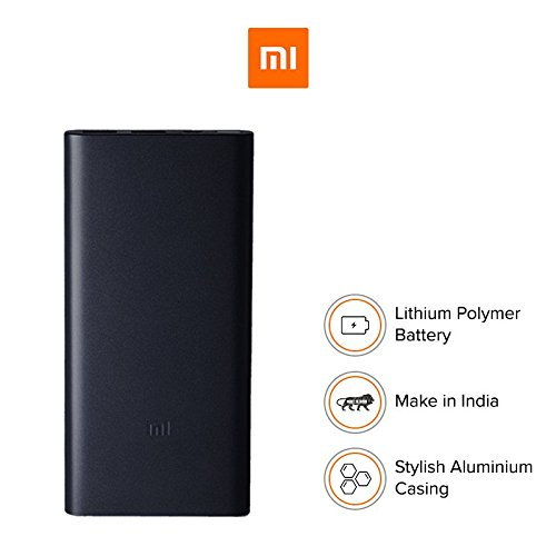 Mi 2i 10000 mAH Li-Polymer Black colour Power Bank