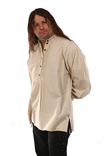Pirat, Renaissance, Hemd Nicht-Gerade Weiss Mittelalter Karibik Hippie Man Kostüm Klein