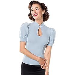 Belsira Jersey-Bluse Camiseta Mujer Azul Claro 3XL