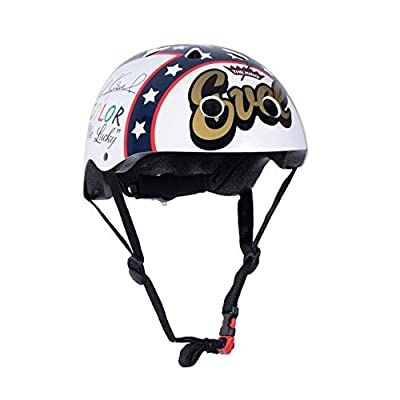 Kiddimoto Kids Fully Adjustable Helmet for Cycling/Scooter/Balance Bike/Skateboard - Official Evel Knievel from Kiddimoto
