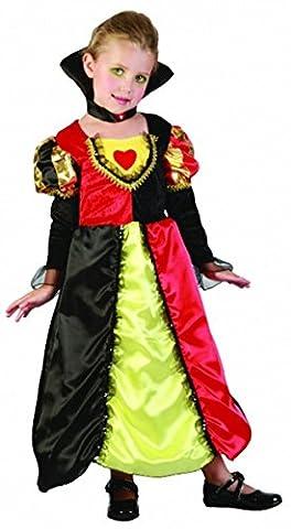 Filles de la Reine de Cœur pour tout-petits Fancy Dress Party Costume 2–4ans