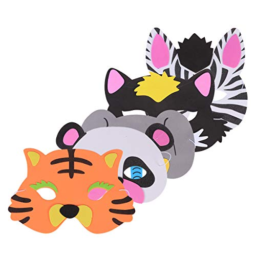 YeahiBaby Máscaras de Animales para niños Carnaval Elefante Tigre Disfraz Maquillaje Fiesta Cosplay Decoración 5pcs (Estilo Aleatorio)