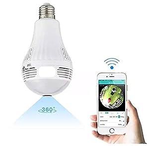 foco camara espia: Ventamundi Bombilla lampara Foco espia con WiFi