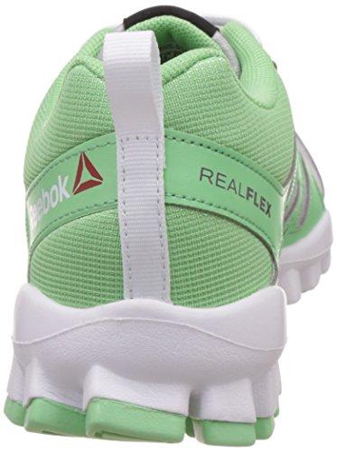 Reebok - Realflex Train 4.0, Scarpe sportive outdoor Donna Grigio (Gris (Steel / Seafoam Green / Ash Grey / White))