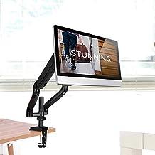 Elevador de Levantamiento Giratorio de Monitor de Pantalla LCD LED para Escritorio Soporte Montado en Mesa para Monitor de TV Computadora Ordenador 10 ~ 24 Pulgadas (Brazo Doble)
