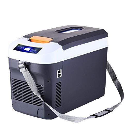 POIUYT Tragbare Outdoor 12 V Auto Kompressor Kühlschrank 25L AC Oder DC Kühler Lebensmittel Getränke Wein Camping Reise Picknicks Leichte Kühlbox,Grey25L (Dc-kompressor-kühlschrank)