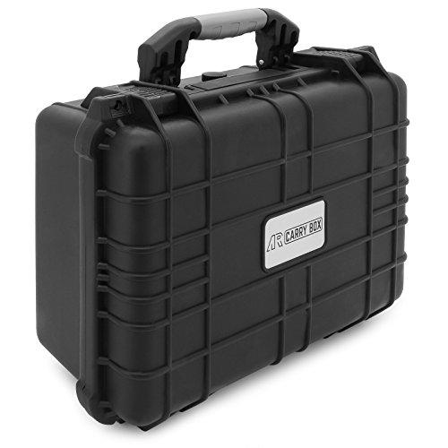 Preisvergleich Produktbild AR CARRY BOX Outdoor Koffer Schutzkoffer Kunststoff-Koffer Schwarz Rasterschaum staub- & wasserdicht