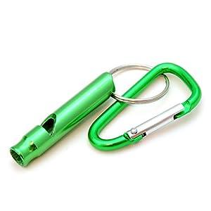 compacte pour dressage de chien/Sifflet d'entraînement avec mousqueton, sifflet de survie pour extérieur/Survival, Couleur?: Vert-Ganzoo comme porte-clés
