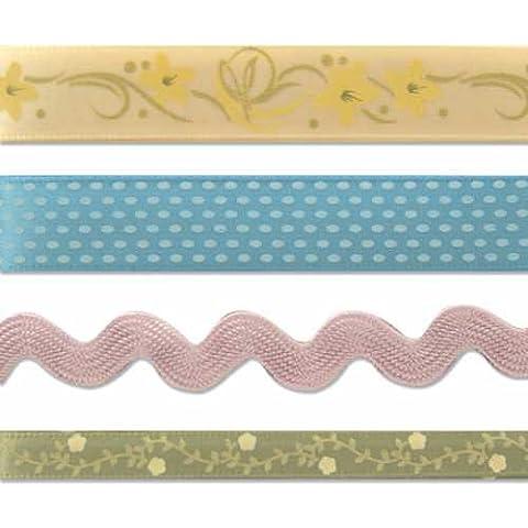 Karen Foster Design Scrapbook Trimmings Patterned Ribbon Spring Theme by Karen Foster Design
