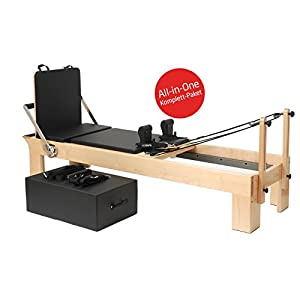 Yogistar Pilates Reformer Ahorn Therapeutic Leg (inkl. Sitting Box Und Jump Board) – Schwarz