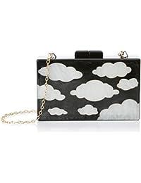 Pepa Loves Clouds Clutch, Bolso Bandolera para Mujer, Negro (Black), 5.00x11.00x16.00 cm (W x H x L)