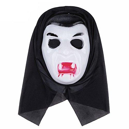 (OverDose Damen Halloween lustige Vielfalt Phantasie Ball Maske Clubbing Party Cosplay Tanz Rave für Festival Horror Wesentliche Geschenk)